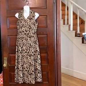 NWT Coldwater Creek Brown Sleeveless Long Dress 6P